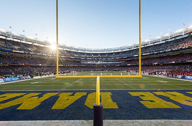 Dec. 28, 2013; 2013 Pinstripe Bowl in Yankee Stadium.Photo by Matt Cashore