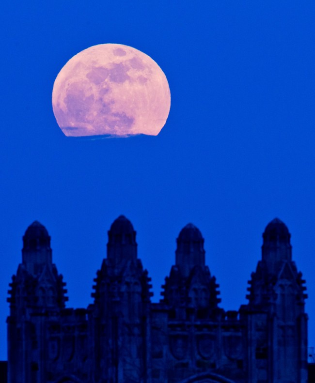 5/5/12 Super moon over the Law School.